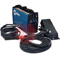059016013PFP Miller STH 160 DC Pulse Tig Welder Package with CK Flex-Loc Torch, Foot Pedal & MMA Cable Set, 230v
