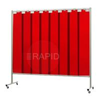 36.34.25 Cepro Omnium Single Welding Screen, with Orange-CE Strips - 2.2m Wide x 2m High, Approved EN 25980