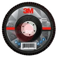 3M-52011 3M Silver Conical Flap Disc 769F 125mm x 22.23mm, 120+ Grit (Box of 10)