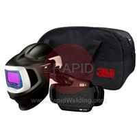 3M-577715 3M Speedglas 9100X MP Welding Helmet with New Adflo Powered Air Respirator, 5/8/9-13 Variable Shade, 54mm x 107mm Lens Viewing Area 37-1101-20SW