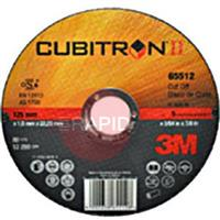 3M-65512 3M Cubitron II 125mm (5 inch) x 1.0mm Cutting Disc