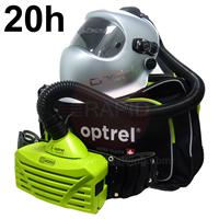 4530.000.GL Optrel Crystal 2.0 Auto Darkening Welding Helmet and E3000 20 Hours PAPR System, Ready to Weld Package