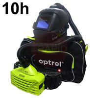 4540.000.G Optrel Liteflip Autopilot Welding Helmet and E3000 10 Hours PAPR System, Ready to Weld Package
