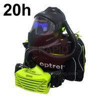 4550.500.GL Optrel Panoramaxx Auto Darkening Welding Helmet and E3000 20 Hours PAPR System, Ready to Weld Package