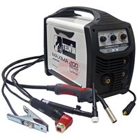 816087MP Telwin Maxima 200 Synergic Multiprocess Package with MIG / TIG Torches & MMA Leads - 230V, 1ph