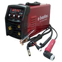 B18259-1MP Lincoln Bester 190C Multi Process Inverter Welder Package, with MIG/TIG Torches & MMA Leads - 240v