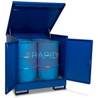 DB4 DrumBank 4 Drum Enclosed Spill Pallet 1350×1250×1350mm