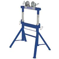 DPS200-NWH Duo Pipe Stand (Height Adjustable) with Nylon Wheel Heads for Stainless, 450kg Capacity