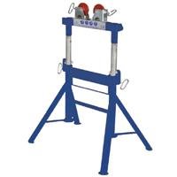 DPS200-SWH Duo Pipe Stand (Height Adjustable) with Steel Wheel Heads 2400kg Load Capacity