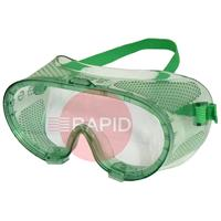 E2GCDV1 Lightweight Safety Goggles - Clear Lens. Indirect Ventilation with Elastic Headband Clip EN166