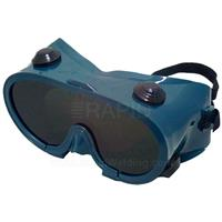 E2GWG1 Ski Type Safety Goggles - IR/UV Shade 5.0 Lens. Indirect Ventilation with Elastic Headband Clip EN175