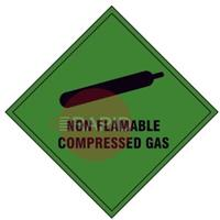 GREENSIGN COMPRESSED GAS VAN STICKER 100 x 100mm