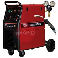K14045-1P Lincoln Powertec 191C Mig Welder, 1ph 180A 230v - Ready to weld package