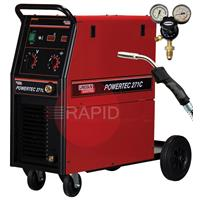 K14047-1P Lincoln Powertec 271C Mig Welder, 255amp 1ph 230v - Ready to Weld Package