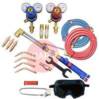 KITWLCUOXACBE Type III Medium Duty Oxy Acetylene Welding & Cutting Kit with Bottom Entry Regulators