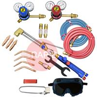 KITWLCUOXACSE Type III Medium Duty Oxy Acetylene Welding & Cutting Kit with Side Entry Regulators