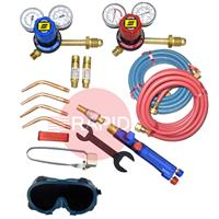 KITWLDOXACSE Type III Medium Duty Oxy Acetylene Welding Kit with Side Entry Regulators