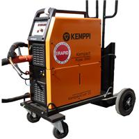 P1120 Kemppi Kempact Pulse 3000 Water Cooled Package. Comes with PMT 30W 4.5M Kemppi Torch Set Up for Aluminium. Earth Cable & Gas Hose. Kemppi P20 Wheel Kit with Cylinder Carrier. 400V CE