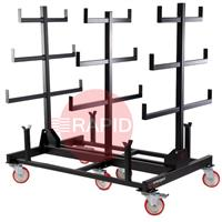 PR2 Armorgard Mobile Collapsable Pipe Rack, certified 2 tonne capacity