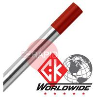 ThoriatedTungsten CK 2% Thoriated (Red) Tungsten Electrode, 175mm long