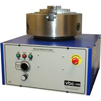 "W153240 Model ""W"" manual turntable with 153 mm through bore & 250mm 3-jaw self centering scroll chuck (101mm bore) 240V"