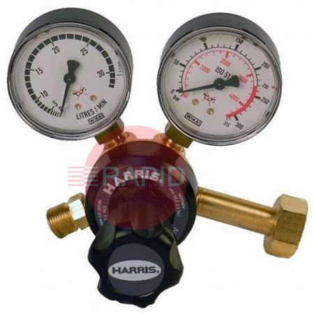 "H1156  Carbon Dioxide 30 lpm 901 Single Stage Two Gauge Regulator (300 Bar), W21,8x14/1"" Cylinder Connection, 3/8"" BSP Outlet"