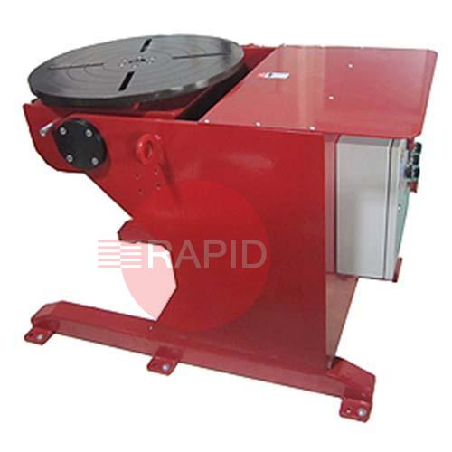 LPE0.5  Welding Positioner, 500kg capacity, 620mm plate, 0 to 2 rpm, 240v