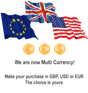 We are now Multi Currency! Pay in GBP, EUR or USD