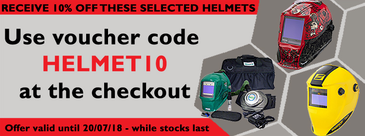 10% OFF Welding Helmets only while stocks last